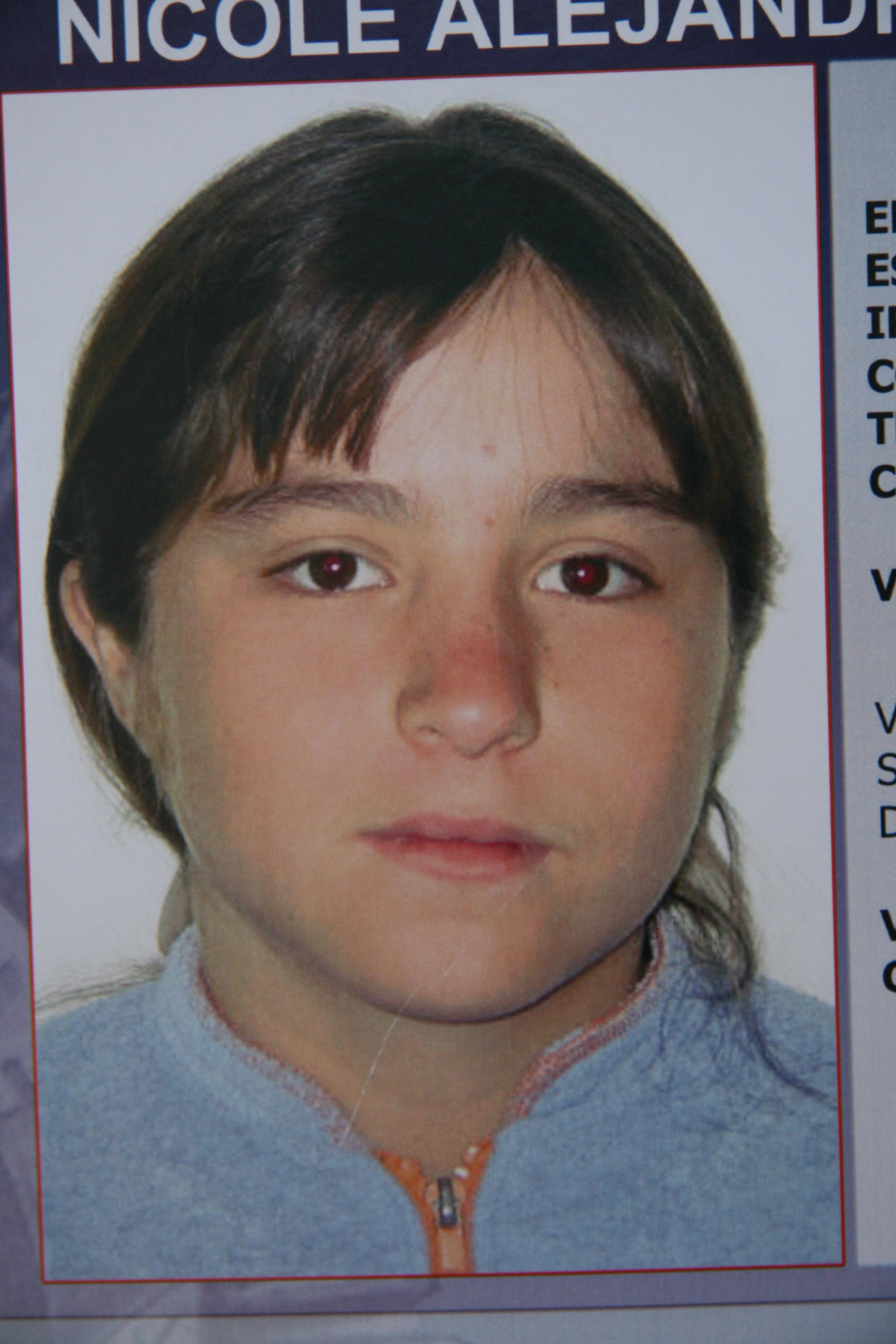 La fotografía de Nicole González es de cuando tenía 15 años; hoy tendría 19 años de edad.