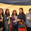 Ida Aguilar, Leslie Muñoz, Nancy Olavarría, Jacqueline Desrrivers y Roxana Duarte.