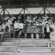 """Esta foto fue tomada por el legendario Manuel Zúñiga a la vieja galería del estadio Hermógenes Lizana, cuando el Liceo de Hombres """"Oscar Castro""""  fue campeón de fútbol amateur por tercera vez.  Por:   Juan Covarrubias Orellana"""