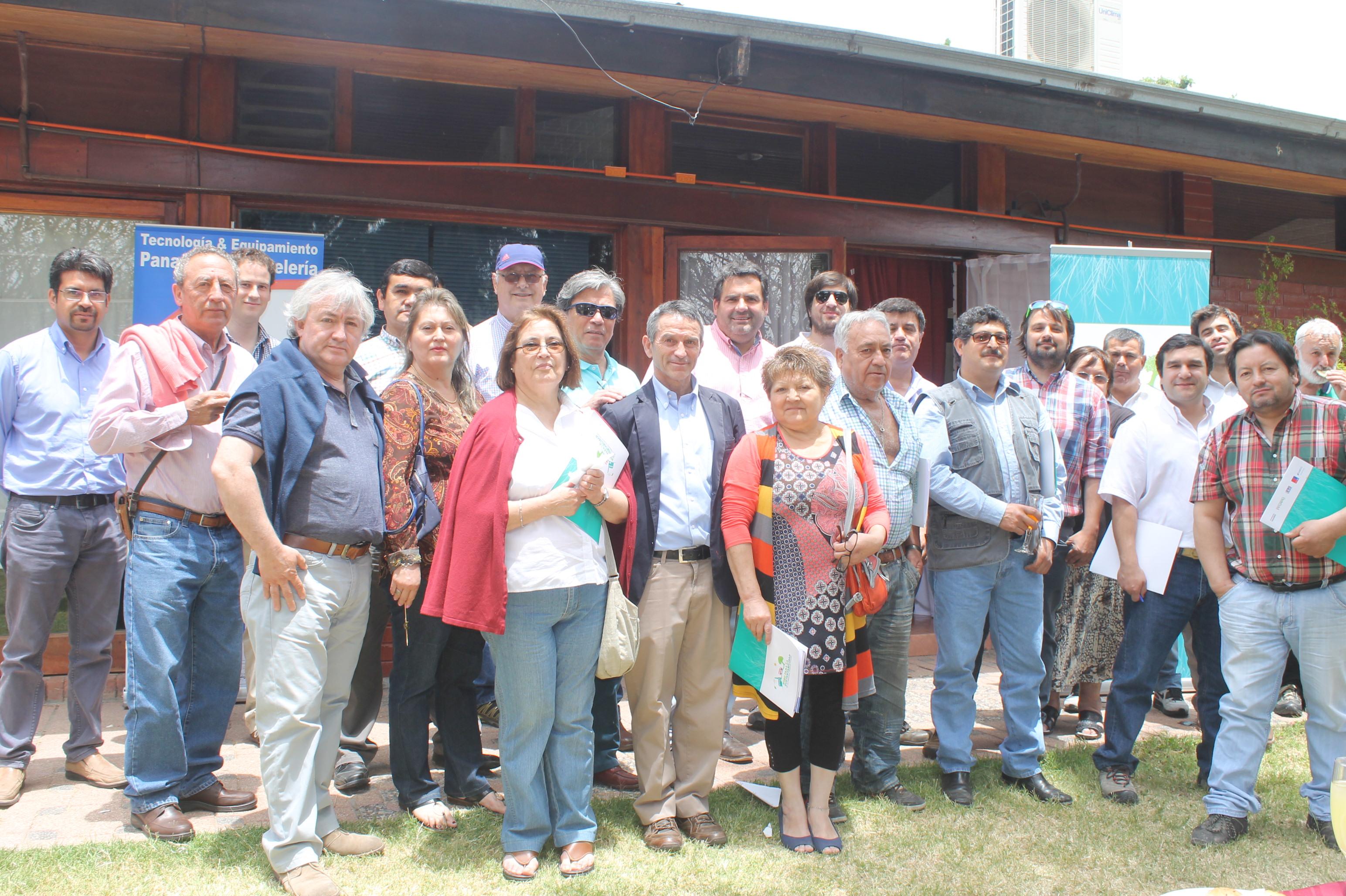 Participantes del seminario de apertura de la segunda fase del Nodo para la Sustentabilidad de Panaderías de la Región de O'Higgins.
