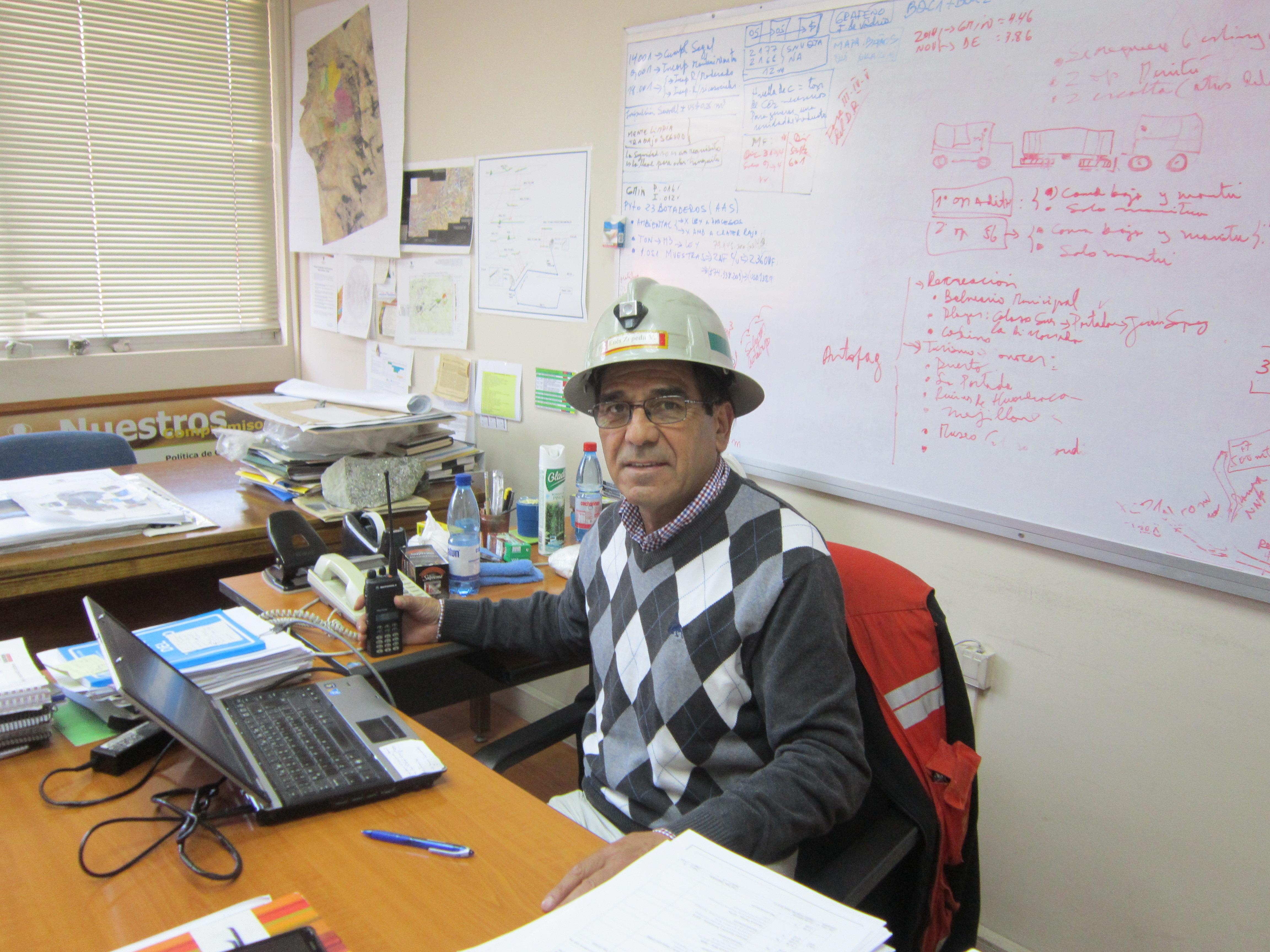 Enés Zepeda, presidente del Sindicato de Supervisores Rol A de El Teniente.