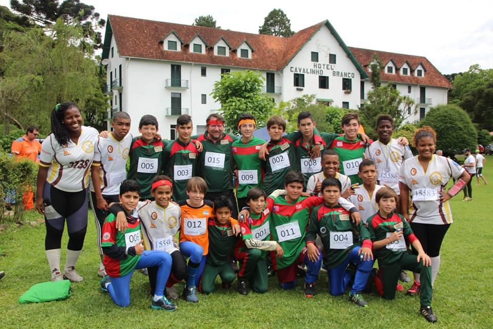 La delegación se complementó con niños corredores de Pichidegua y San Vicente. Fue la única que representó a Chile.