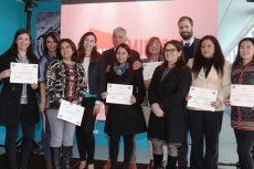 En la foto, un grupo de trabajadoras que participó en el concurso Mujer Destacada en Minería.